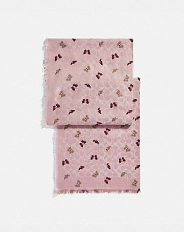 SIGNATURE BUTTERFLY PRINT OBLONG SCARF