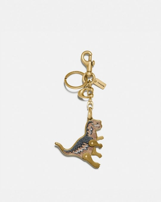 REXY BAG CHARM IN SIGNATURE CANVAS