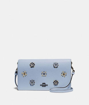 HAYDEN FOLDOVER CROSSBODY WITH SCATTERED RIVETS