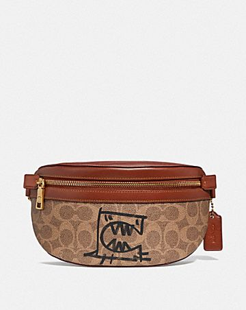 BELT BAG IN SIGNATURE CANVAS WITH REXY BY GUANG YU