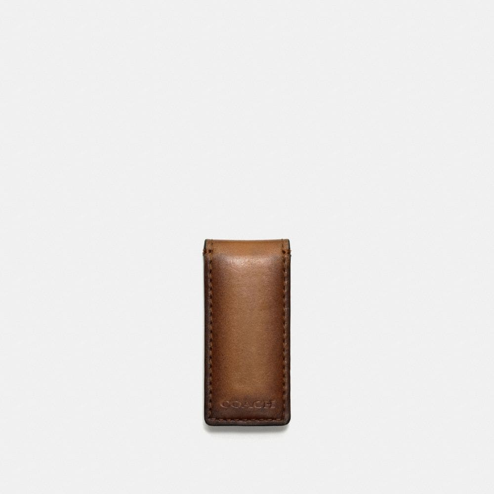 BLEECKER LEGACY MONEY CLIP IN LEATHER