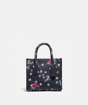 CASHIN CARRY TOTE 14 MIT COLOURBLOCK-BLUMEN-PRINT