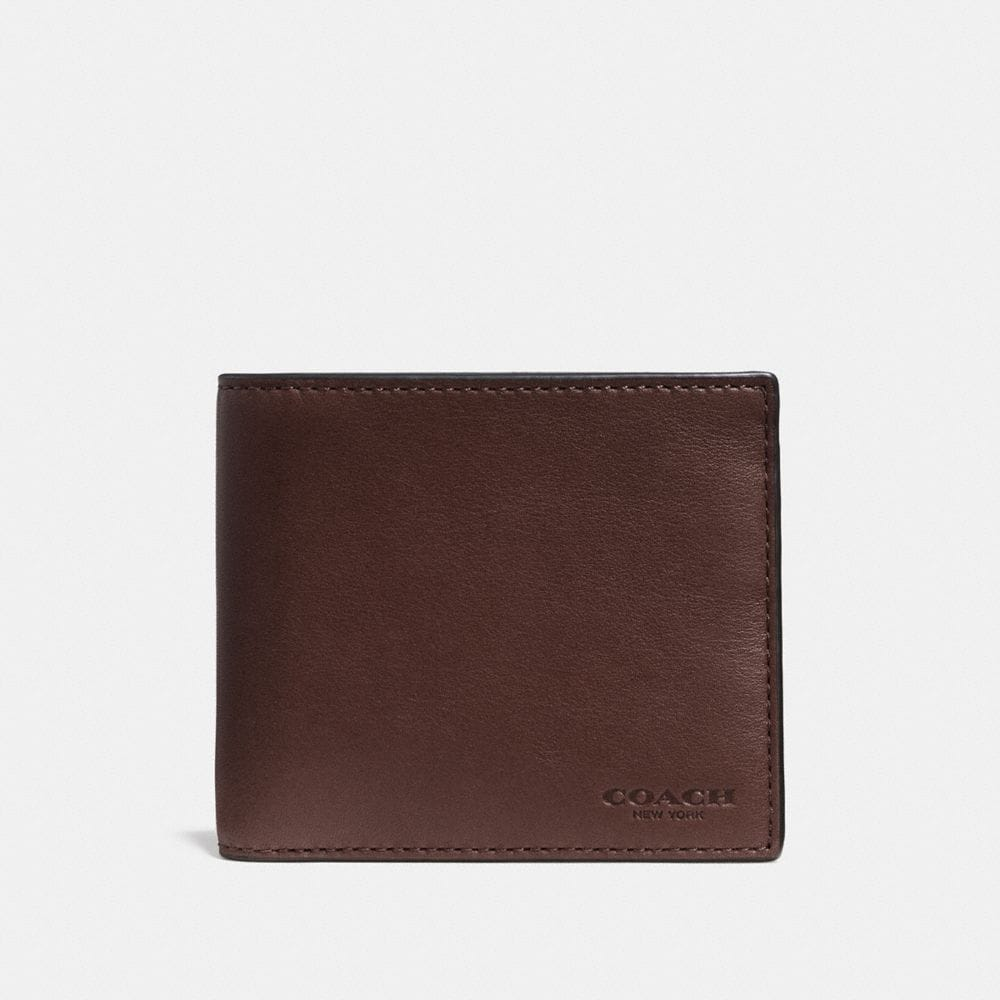 DOUBLE BILLFOLD WALLET IN SPORT CALF LEATHER