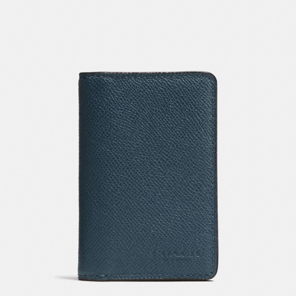 CARD WALLET IN CROSSGRAIN LEATHER