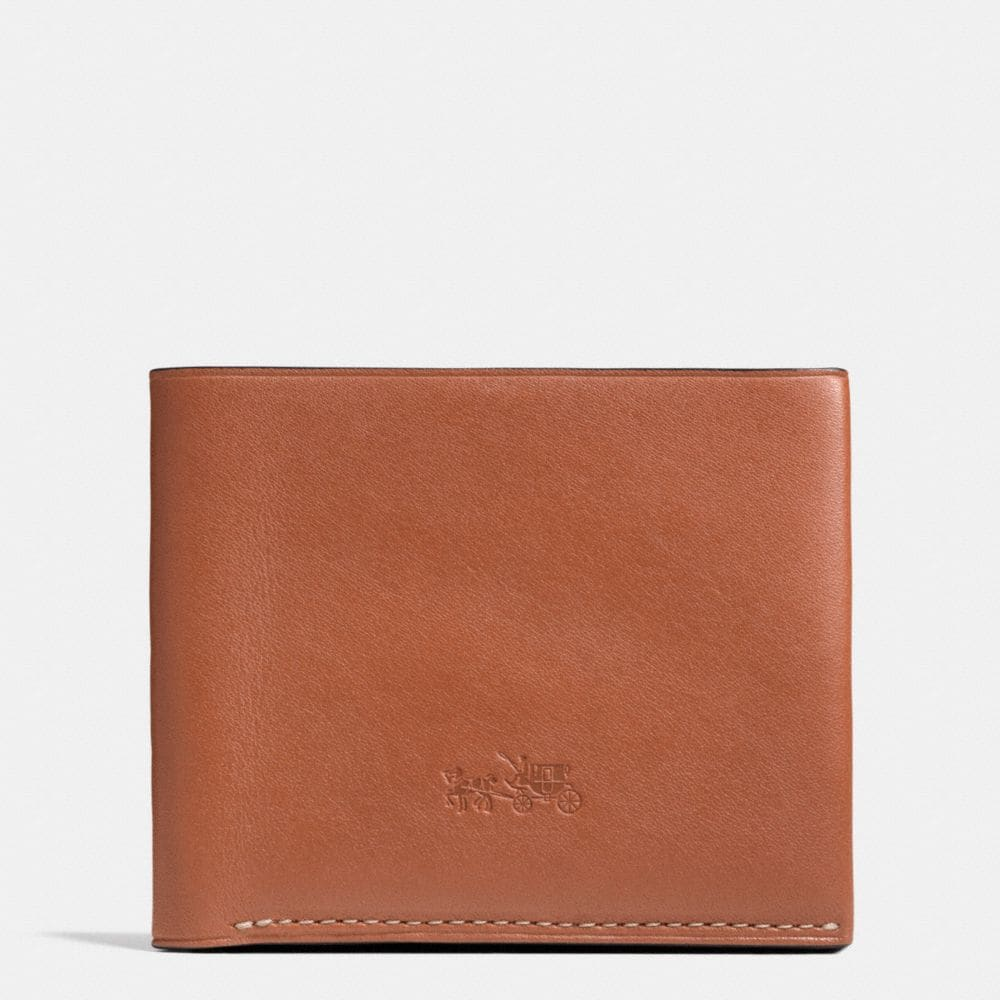 Wallet Saddle Leather Billfold Wallet in Leather