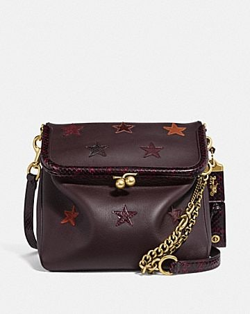 RIDER BAG 24 WITH STAR APPLIQUE AND SNAKESKIN DETAIL