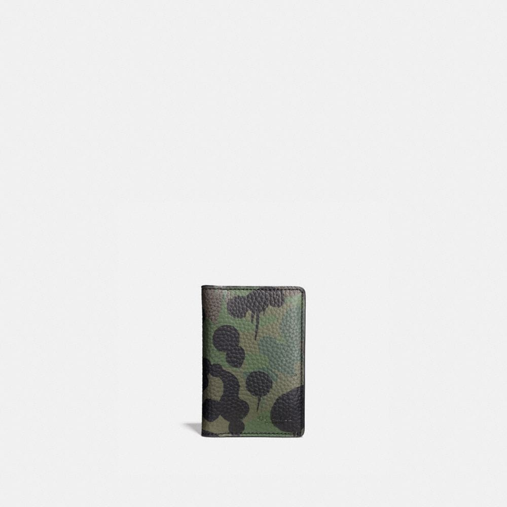 CARD WALLET WITH WILD BEAST CAMO PRINT