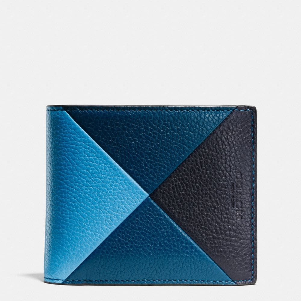 COMPACT ID WALLET IN PATCHWORK PEBBLE LEATHER