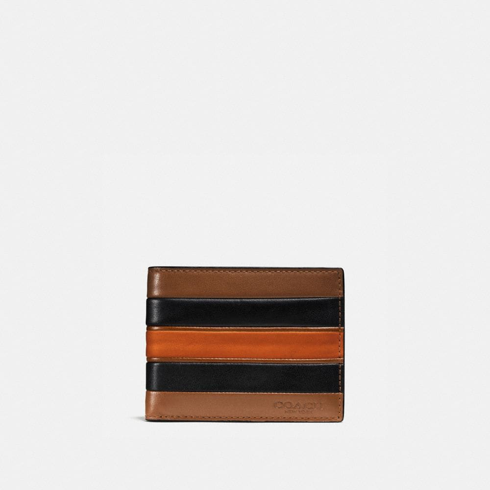 SLIM BILLFOLD WALLET WITH VARSITY STRIPE