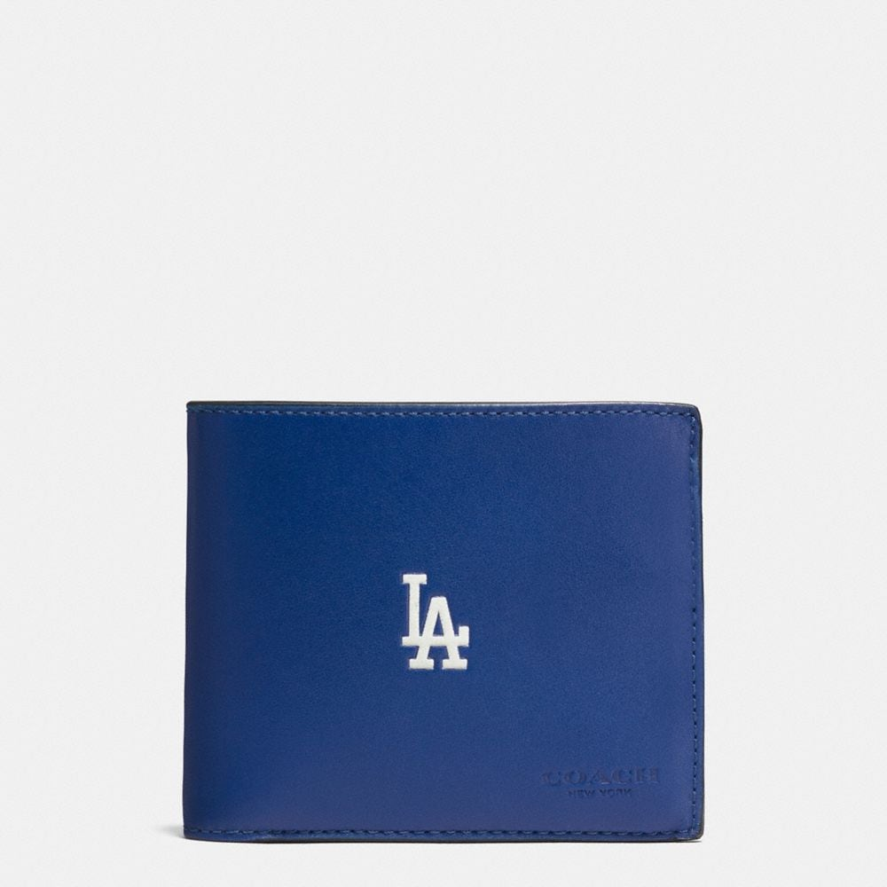 MLB COMPACT ID WALLET IN SPORT CALF LEATHER
