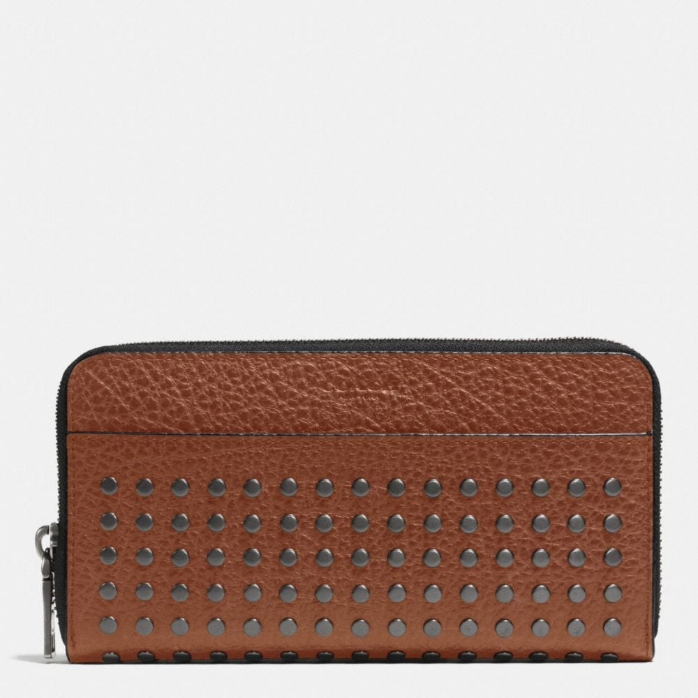 STUDS ACCORDION WALLET IN BUFFALO LEATHER