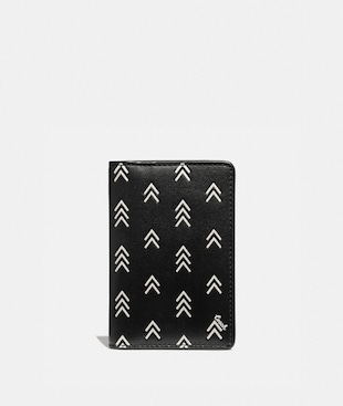 CARD WALLET WITH LINE ARROW PRINT