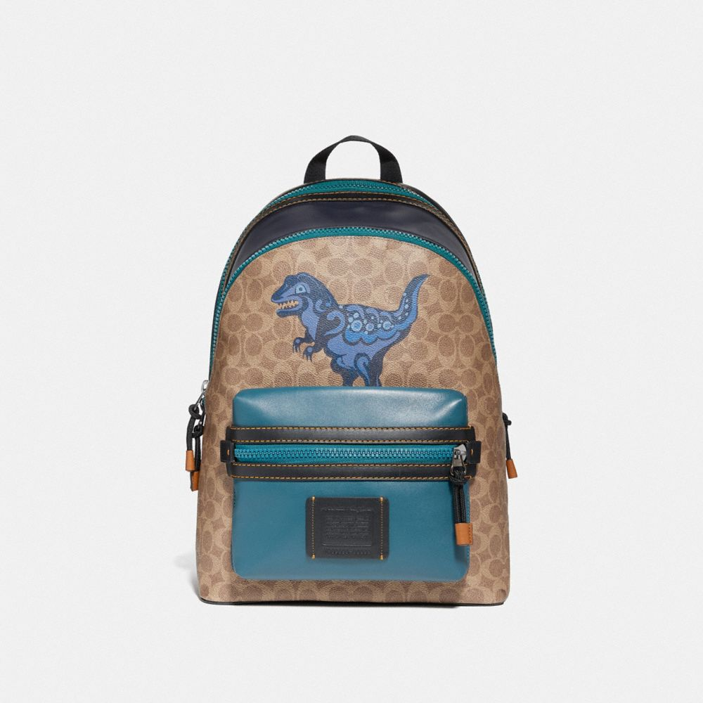ACADEMY BACKPACK IN SIGNATURE CANVAS WITH REXY BY ZHU JINGYI