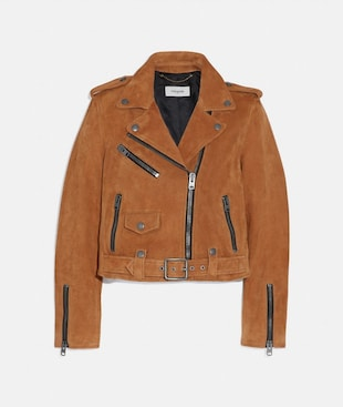 SUEDE MINI BIKER JACKET