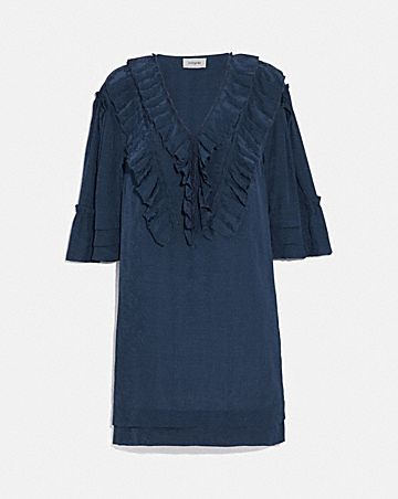 SHORT GLAM ROCK PRAIRIE DRESS WITH RUFFLES
