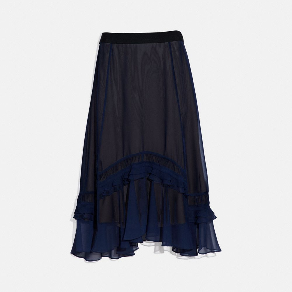 LONG TIERED SKIRT
