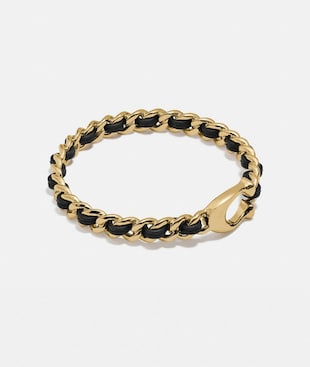 SIGNATURE WOVEN LEATHER BANGLE