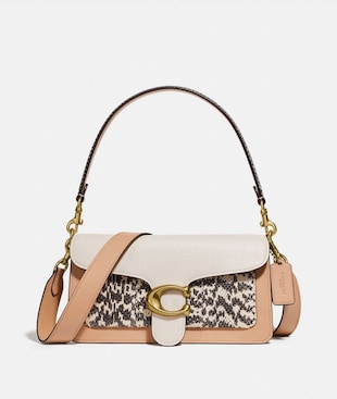 TABBY SHOULDER BAG 26 IN COLORBLOCK WITH SNAKESKIN DETAIL