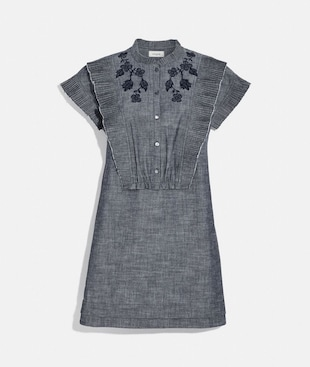 CHAMBRAY SHORT PRAIRIE DRESS