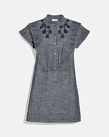 CHAMBRAY SHORT PRAIRIE DRESS