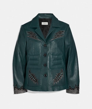 STAGE CRAFT LEATHER JACKET
