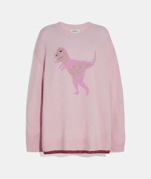 REXY CREW NECK INTARSIA SWEATER