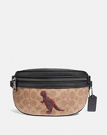 BELT BAG IN SIGNATURE CANVAS WITH REXY BY SUI JIANGUO