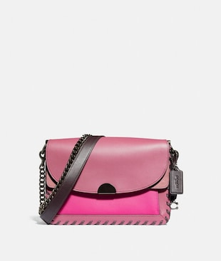 DREAMER SHOULDER BAG IN COLORBLOCK WITH WHIPSTITCH