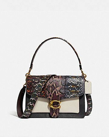 TABBY SHOULDER BAG IN SNAKESKIN