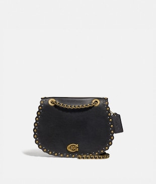 PARKER SADDLE BAG WITH SCALLOP RIVETS