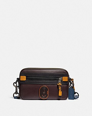 ACADEMY CROSSBODY IN COLORBLOCK WITH COACH PATCH