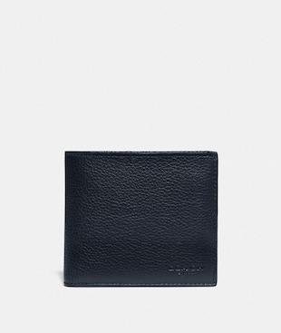 DOUBLE BILLFOLD WALLET WITH SIGNATURE CANVAS BLOCKING