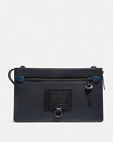 RIVINGTON CONVERTIBLE POUCH WITH SIGNATURE CANVAS BLOCKING