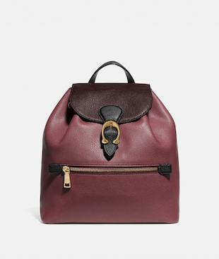 EVIE BACKPACK IN COLORBLOCK LEATHER