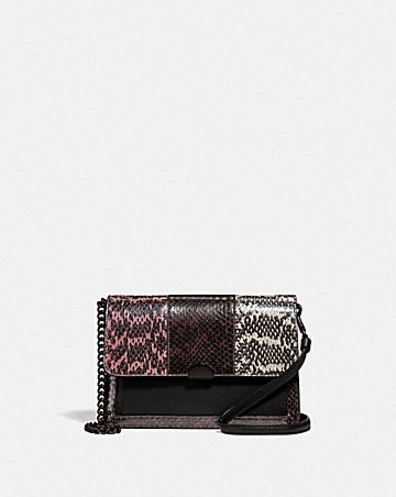 DREAMER CONVERTIBLE CROSSBODY IN COLORBLOCK SNAKESKIN