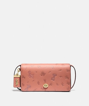 DISNEY X COACH DINKY WITH MIXED DALMATIAN PRINT