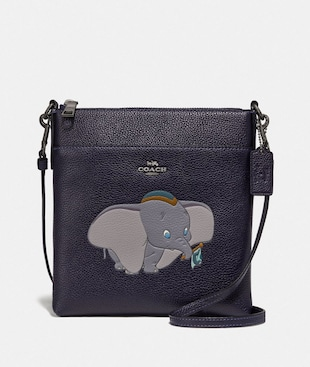 DISNEY X COACH KITT MESSENGER CROSSBODY WITH DUMBO MOTIF