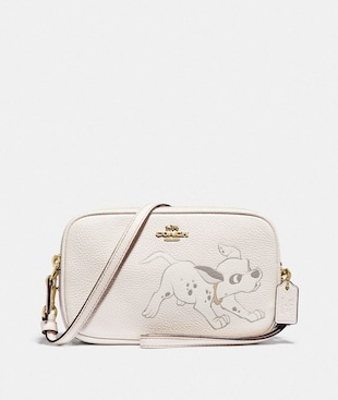 DISNEY X COACH SADIE CROSSBODY CLUTCH WITH DALMATIAN MOTIF
