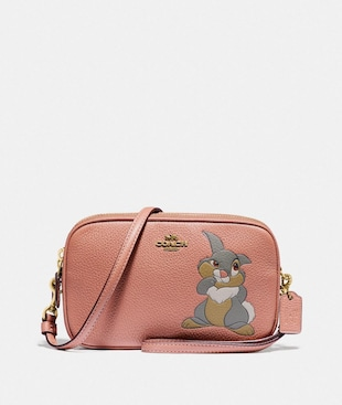 DISNEY X COACH SADIE CROSSBODY CLUTCH WITH THUMPER MOTIF