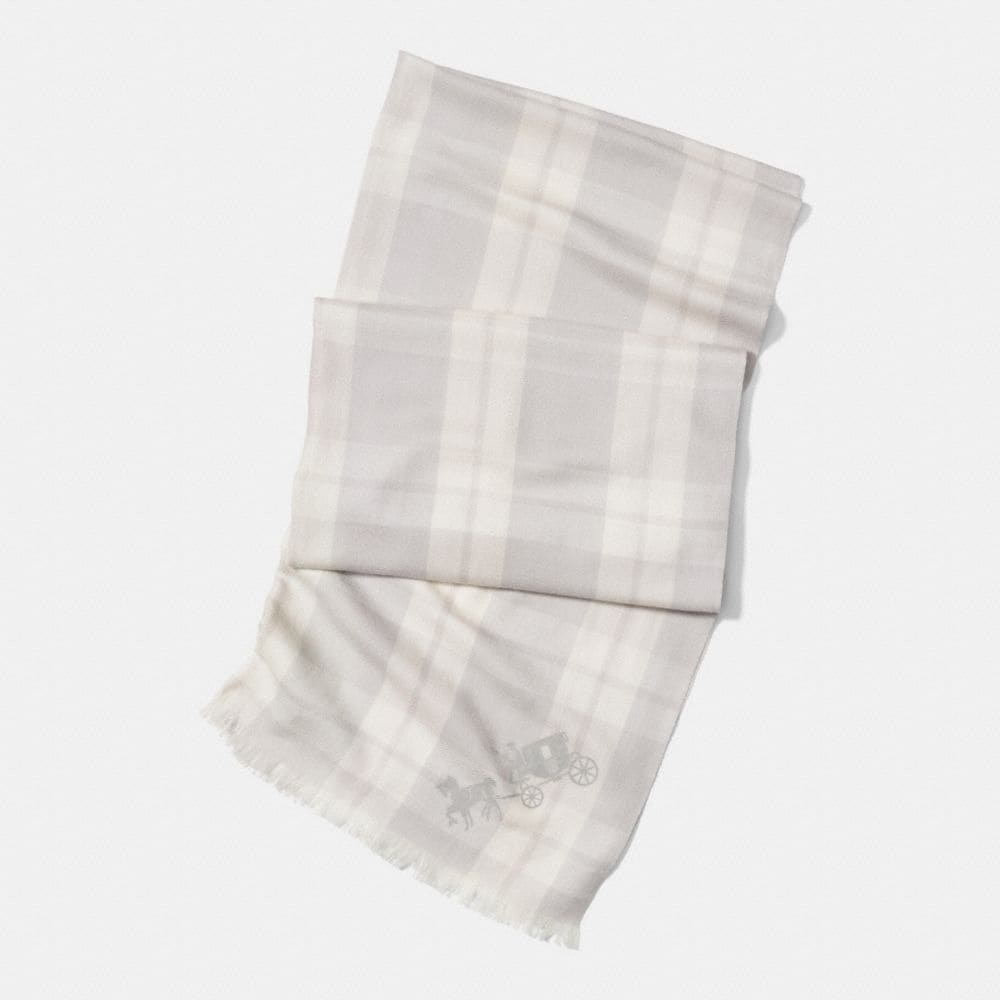 MOUNT PLAID OBLONG SCARF
