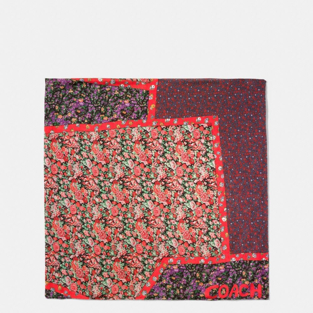 PATCHWORK SILK CASHMERE OVERSIZED SQUARE SCARF