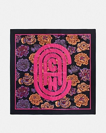 SILK SQUARE SCARF WITH KAFFE FASSETT PRINT