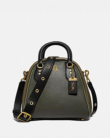 MARLEIGH SATCHEL IN COLORBLOCK WITH COACH PATCH