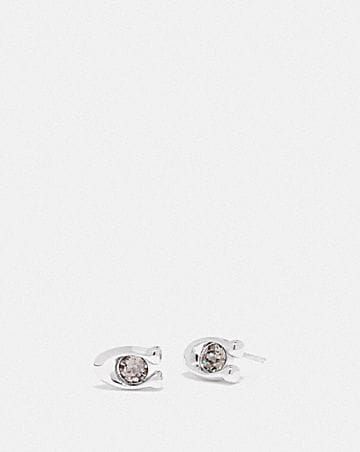 SIGNATURE STONE STUD EARRINGS