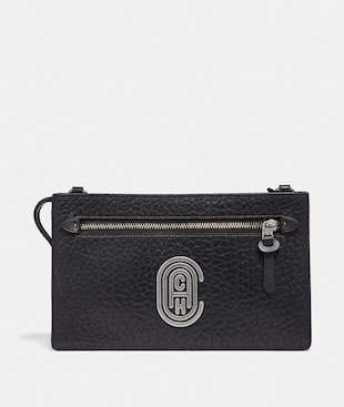 RIVINGTON CONVERTIBLE POUCH WITH COACH PATCH