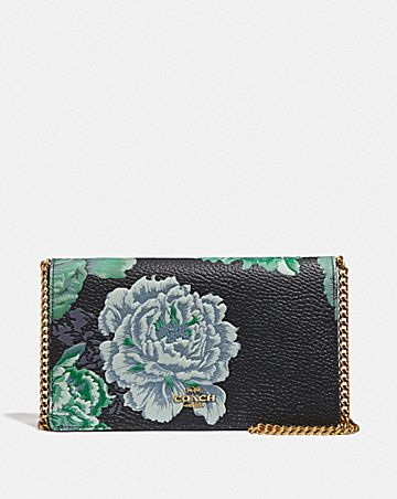 CALLIE FOLDOVER CHAIN CLUTCH WITH KAFFE FASSETT PRINT