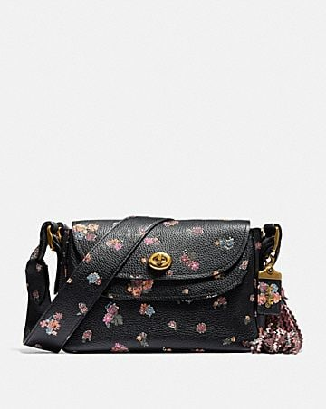 COACH X TABITHA SIMMONS CROSSBODY WITH MEADOW ROSE PRINT