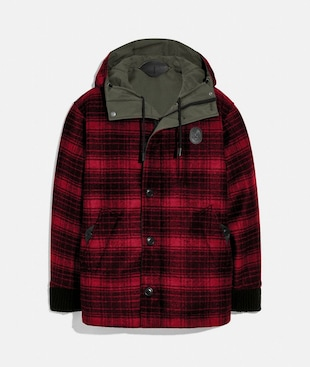 REVERSIBLE PLAID JACKET