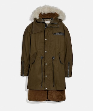 PARKA CONVERTIBILE IN SHEARLING