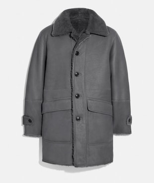 CAPPOTTO DOUBLE FACE IN SHEARLING